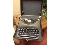 Remington Rand Typewriter and carry case
