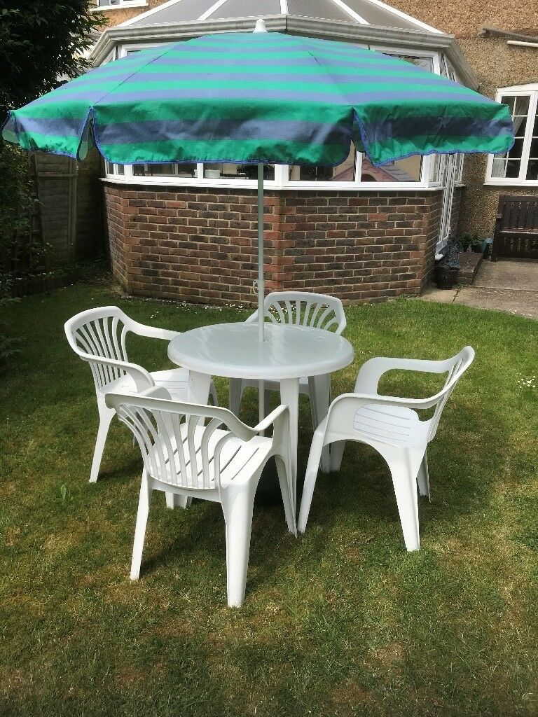 White Plastic Garden Furniture In Worthing West Sussex Gumtree