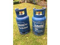 Two calor gas 7kg Butane bottle