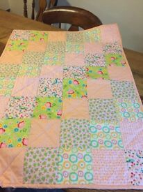 Baby patchwork quilt / cover.