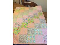 Handmade patchwork quilt. Tummy time or cover.