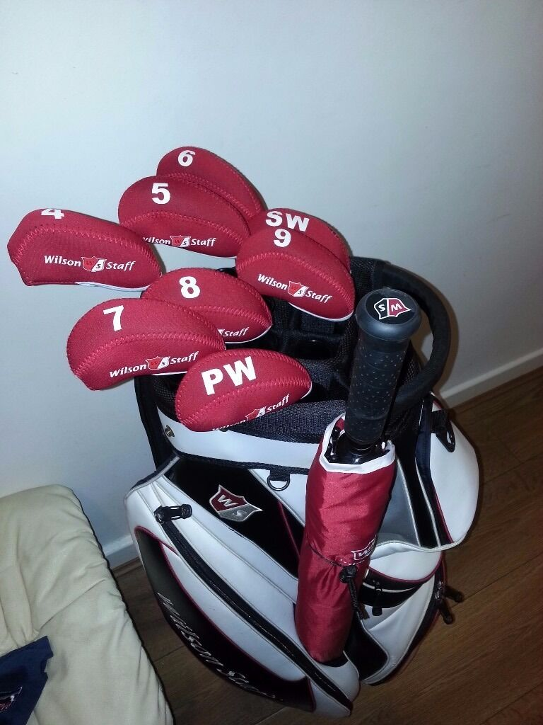 b2bc190c90 ☆awesome set of wilson staff Di7 iron's and wilson staff cart bag plus brand  new umbrella☆