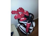 ☆awesome set of wilson staff Di7 iron's and wilson staff cart bag plus brand new umbrella☆