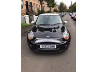 Mini Cooper 3 door hatchback, petrol 2013 black with white roof, good condition, 1600 cc