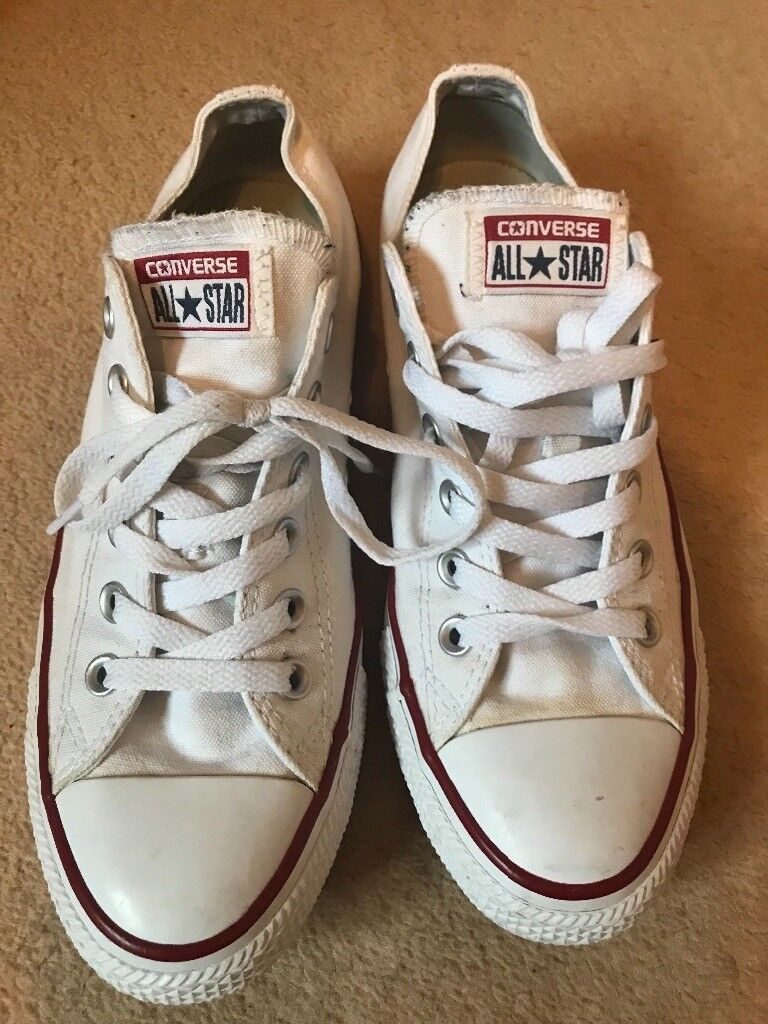 348731c3ea5 White Converse Size UK 7