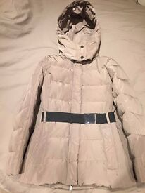 MANGO - Women's / Ladies Detachable Hood Quilt Coat, Brown, Medium