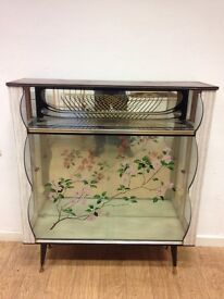 1960s glass cocktail cabinet