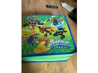 skylanders case with figures and PS4 disc
