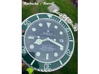 Rolex wall clock - Kermit / Starbucks - free U.K. P&P
