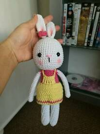 Crochet doll bunny 11 inches