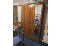 Wooden wardrobes & wooden chest drawers set