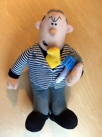 Viz comic character soft toy, Roger melly, Man on the telly. 20cm tall. Collection only