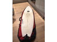 """Quicksilver Warner Slingshot Fish surfboard 6' - 20"""" - 2 1/2"""". With bag"""