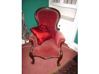 Velvet Bedroom Armchair
