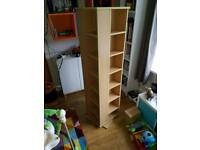 Pine effect rotating DVD / CD rack.