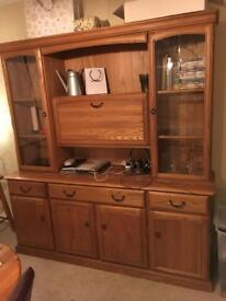 Pine side unit and extendable dining table!