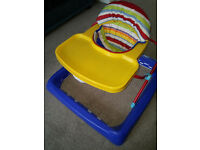 Baby walker with seat in good condition, smoke free home, collect in person