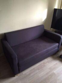 Two seater grey sofa bed TN86HF