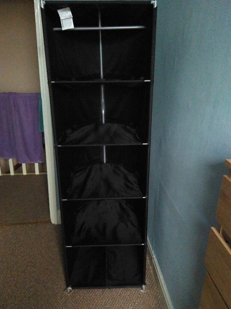 Wardrobe tidy - IKEA free standing shelves storage