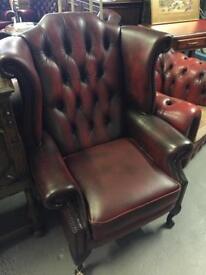 Chesterfield high back queen Ann chair