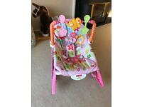 Fisher price infant to toddler chair (pink)
