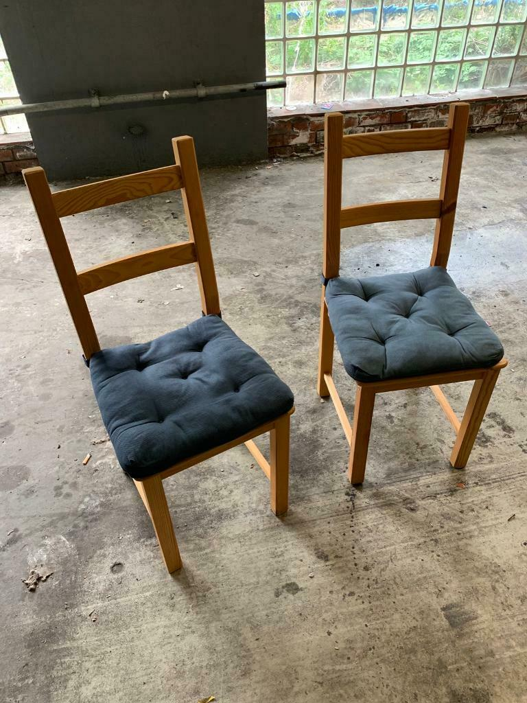 Excellent 2X Dining Chairs In Barnes London Gumtree Gmtry Best Dining Table And Chair Ideas Images Gmtryco