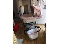Pink silvercross elegance Pram pushchair