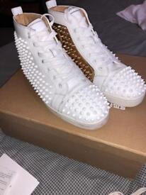 Christian Louboutin White & Gold Size 7.5