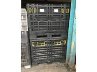 Strong Wood And Collapsable Heavy Duty Plastic Containers/Crates/Pallets