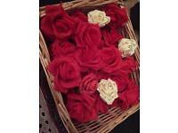 Rose wedding silk flowers bundle art craft