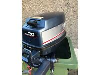 Yamaha 20 hp Outboard Motor Petrol Engine AutoLube 2 Stroke with Petrol Tank