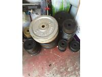 Loads of cast iron weights £1 a KG
