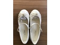 M&S kids bridesmaid/flower girl shoes UK size 10