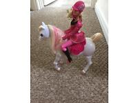 Barbie and walking horse (battery operated) walks by himself
