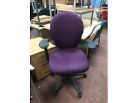 Purple Adjustable Office Chair with Arms