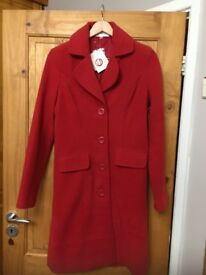 LOVELY RED COAT SIZE 12 (BNWT) - BARGAIN FOR ONLY £20.00