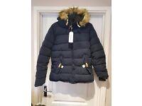 Winter Men's Coat Zipper Warm Outwear Parka Hooded Fur Collar Jacket