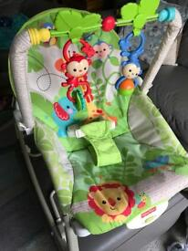Fisher Price Rainforest Baby/Toddler Rocking/Vibrating Chair