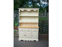 Shabby chic cream & solid pine welsh dresser (104)