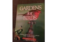 GARDENS FOR BIRDS BOOK *NEW AND UNUSED**