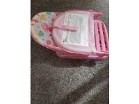 baby bath chair pink