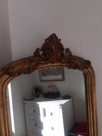 Gold Full Length Dressing Mirror 181 x 56 cm