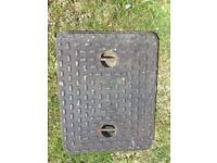 Cast iron man hole cover and frame