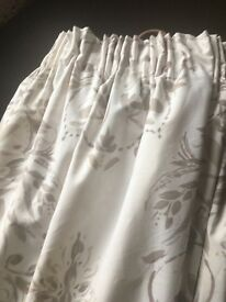 Beautiful cream patterned curtains