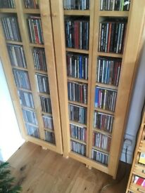 CD Storage tower, Ikea Gnedby, Birch finish including glass doors