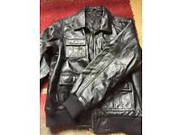 Boys Genuine Leather Jacket - age 12