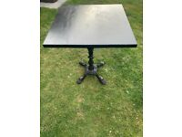 Vintage Cast iron base garden table.