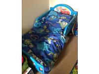Cars toddler bed plus mattress and bedding