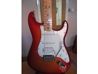 Fender Mex Stratocaster HSS Plus Top Aged Cherry with iOS & USB Connectivity