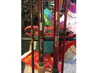 2 x Paul Kerry Daiwa moonraker 12 ft beachcasters